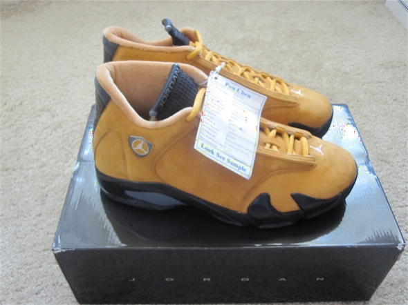 "AIr Jordan 14 Retro ""Chutney"" Sample"