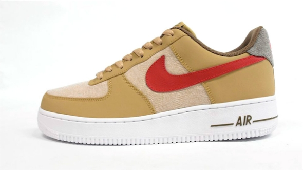 Nike Air Force One Low - Beige/Red-White