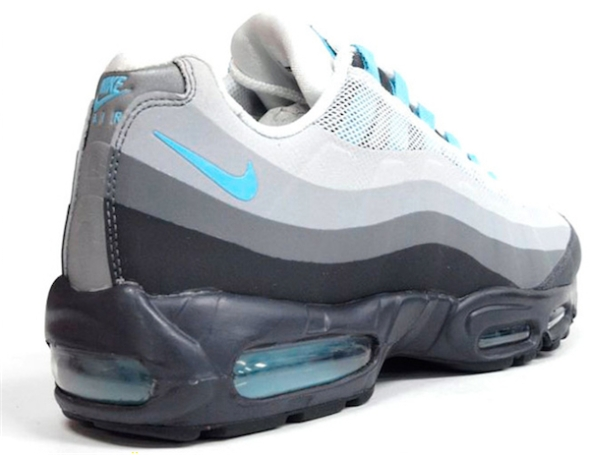Nike Air Max 95 No-Sew - Grey/Black-Sax Blue