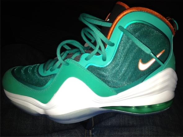Nike Air Penny V - New Green / Safety Orange - White