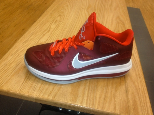 Nike LeBron 9 Low - Team Red / Challenge Red - Wolf Grey