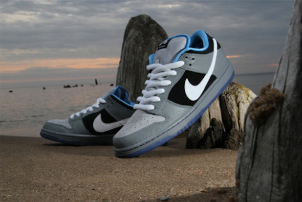 emier x Nike Dunk Low Premium SB - Cool Grey/White-Wolf Grey-University Blue